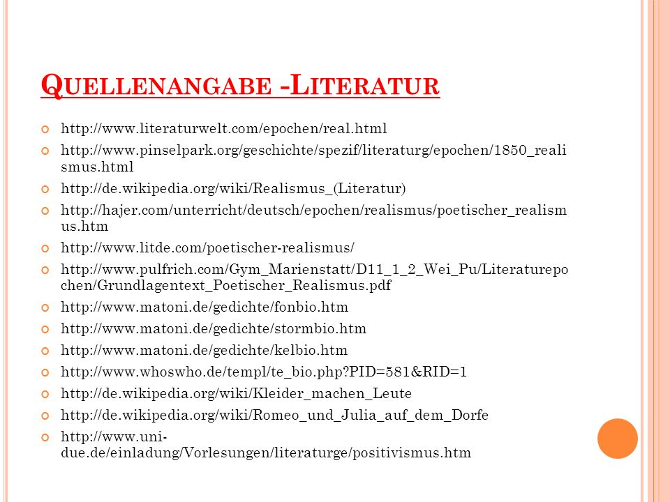 Quellenangabe -Literatur