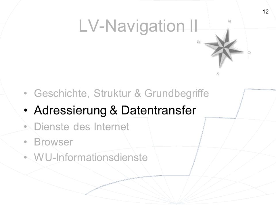 LV-Navigation II Adressierung & Datentransfer
