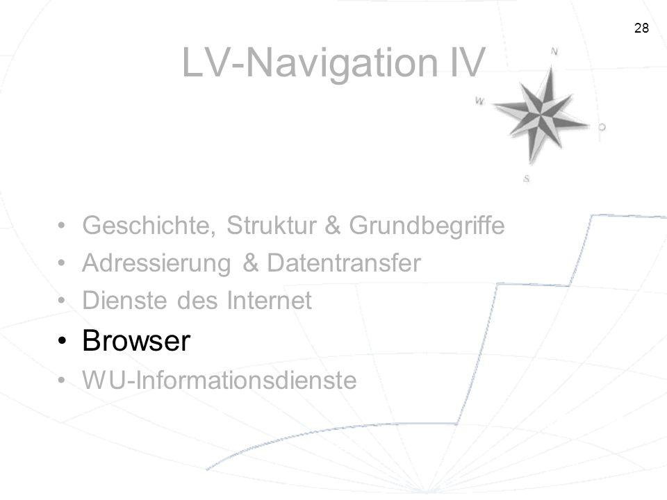 LV-Navigation IV Browser Geschichte, Struktur & Grundbegriffe