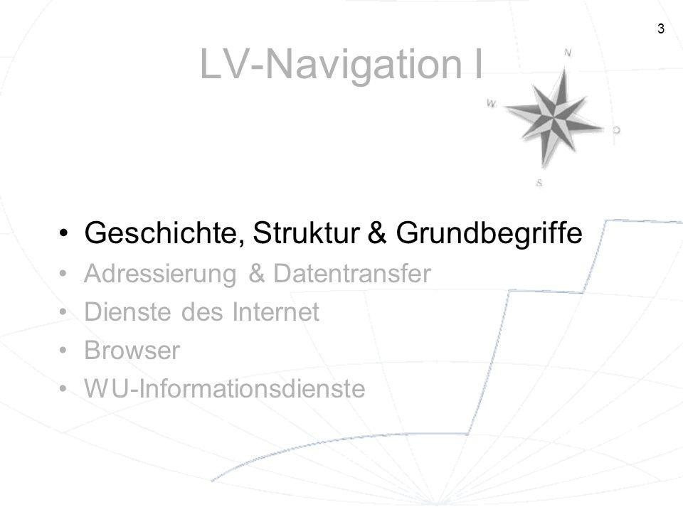 LV-Navigation I Geschichte, Struktur & Grundbegriffe