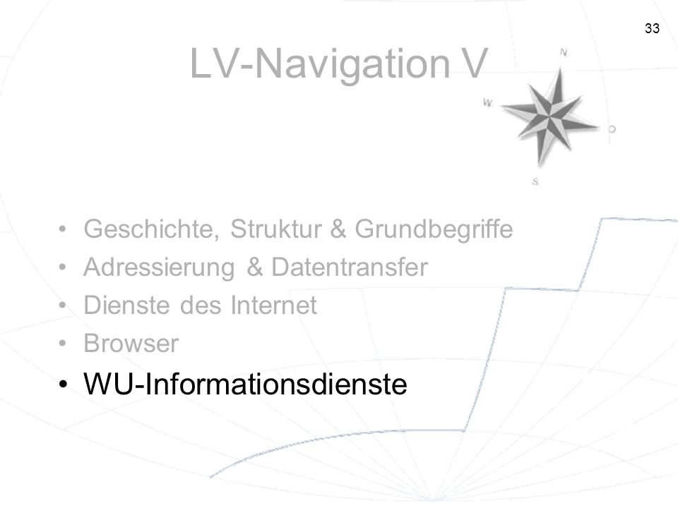 LV-Navigation V WU-Informationsdienste