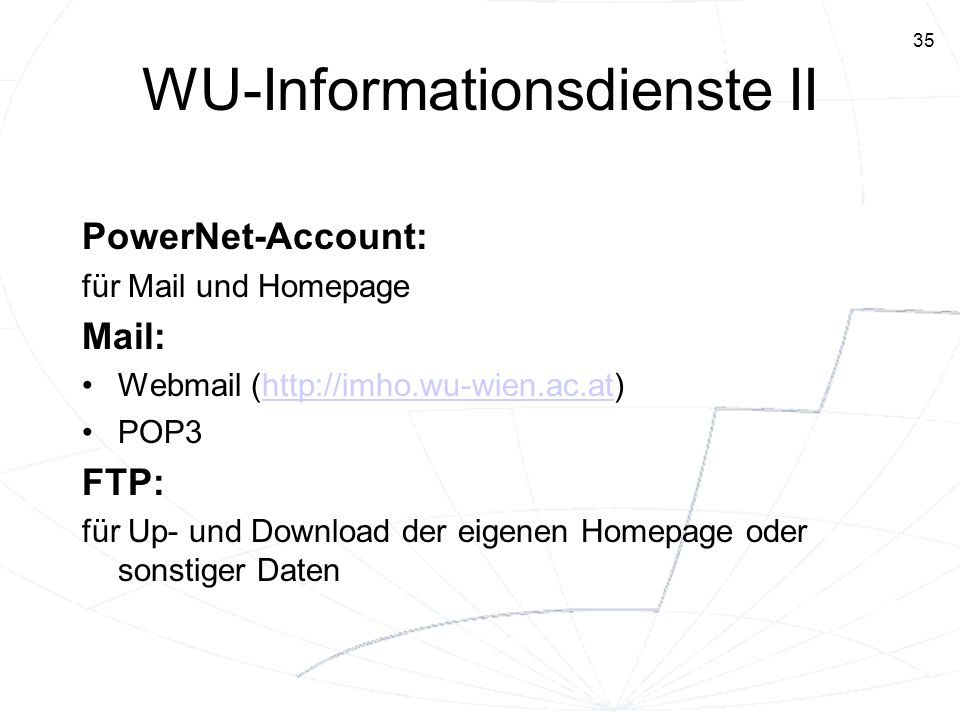 WU-Informationsdienste II