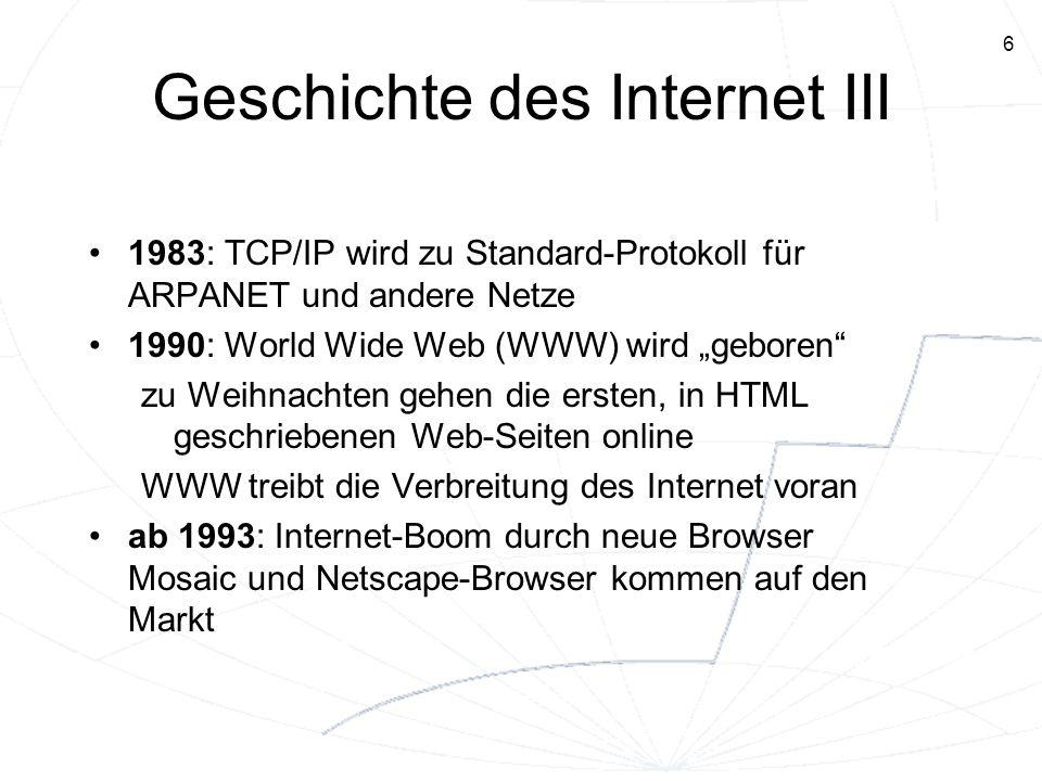 Geschichte des Internet III
