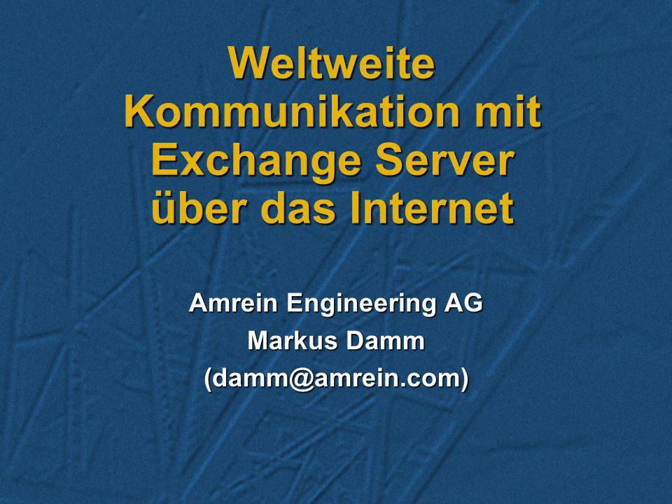 Weltweite Kommunikation mit Exchange Server über das Internet