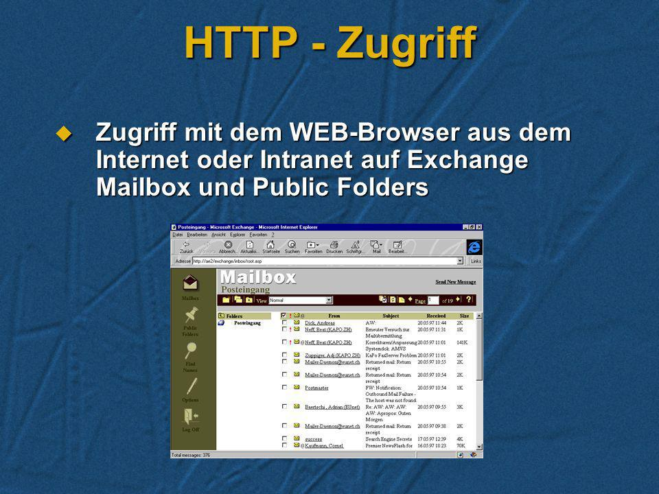 HTTP - Zugriff.