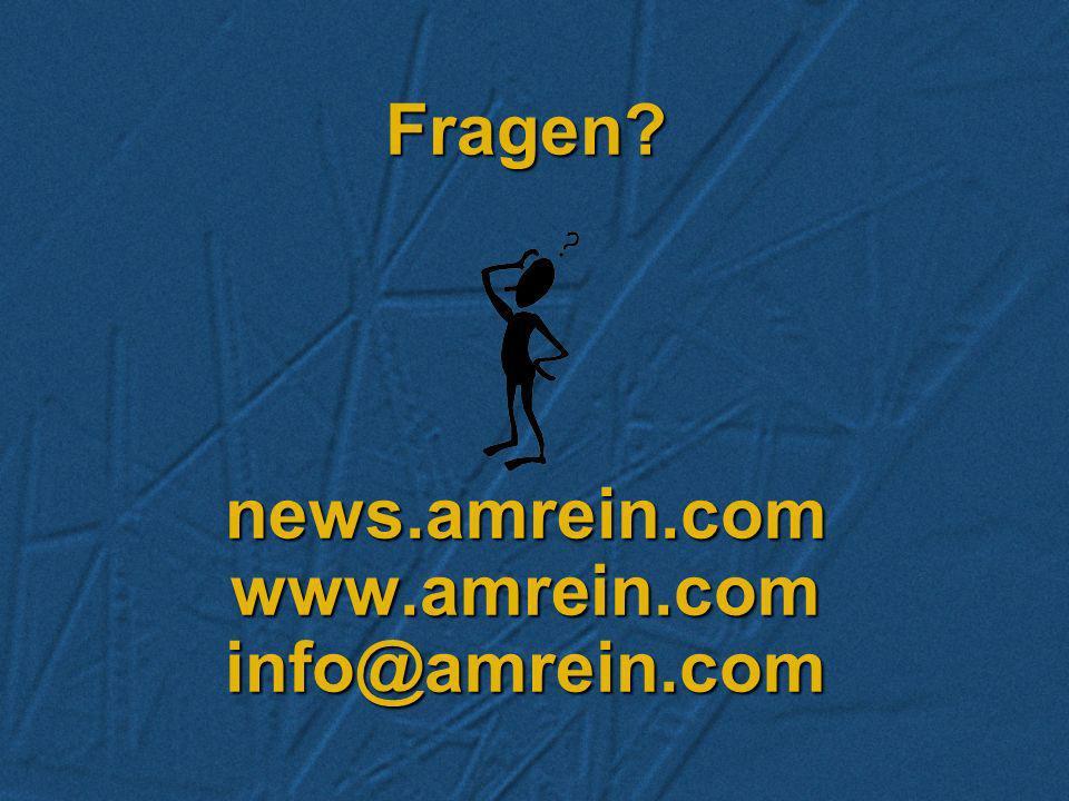Fragen news.amrein.com www.amrein.com info@amrein.com