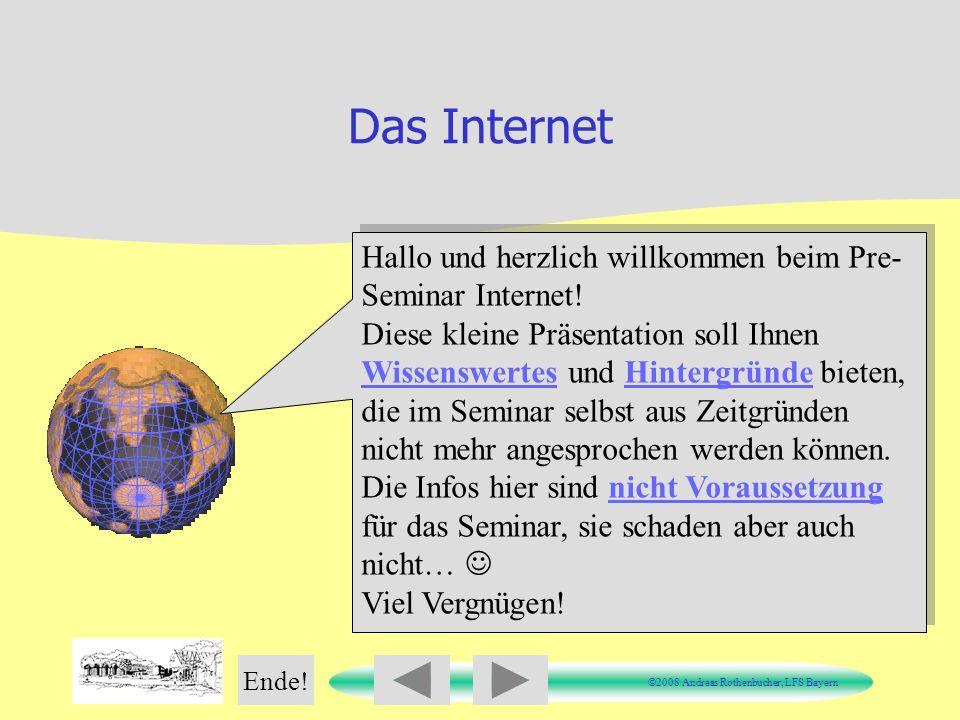 Das Internet Hallo und herzlich willkommen beim Pre-Seminar Internet!
