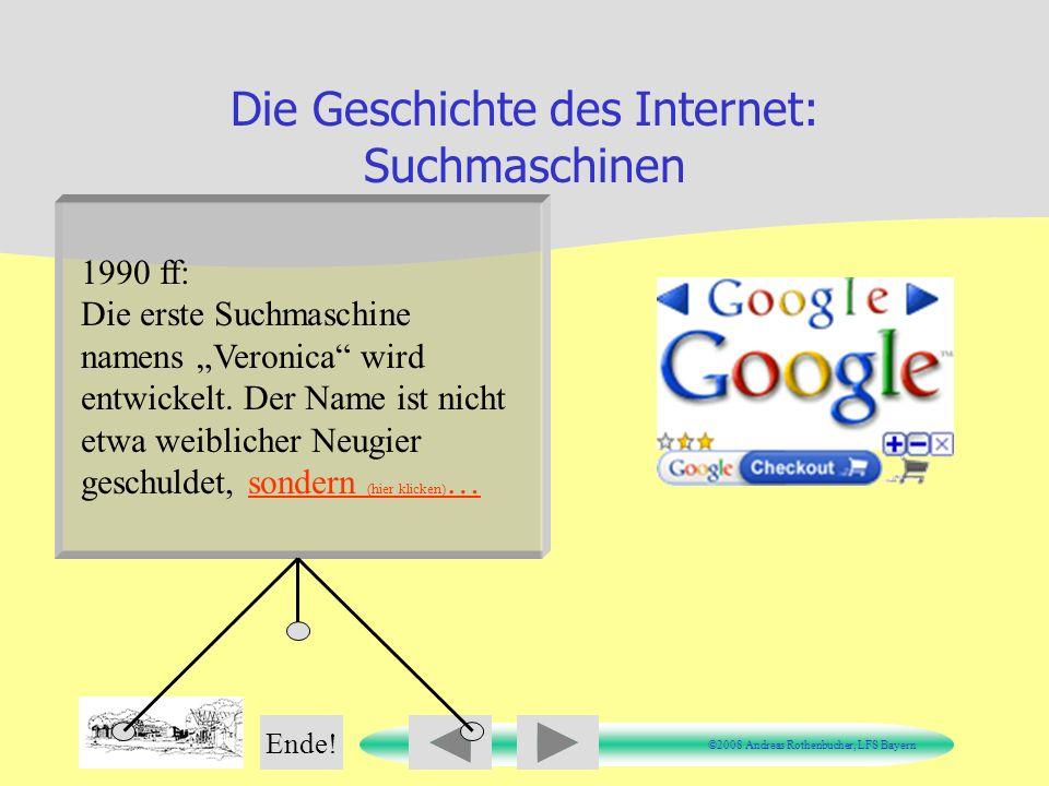 Die Geschichte des Internet: Suchmaschinen