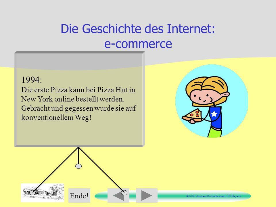 Die Geschichte des Internet: e-commerce