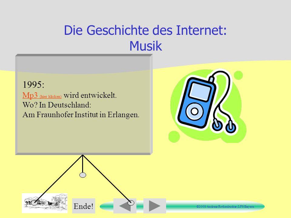 Die Geschichte des Internet: Musik