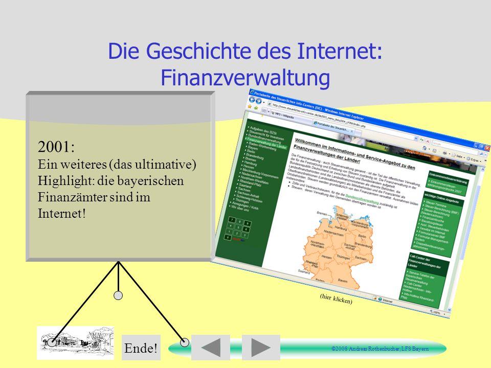 Die Geschichte des Internet: Finanzverwaltung