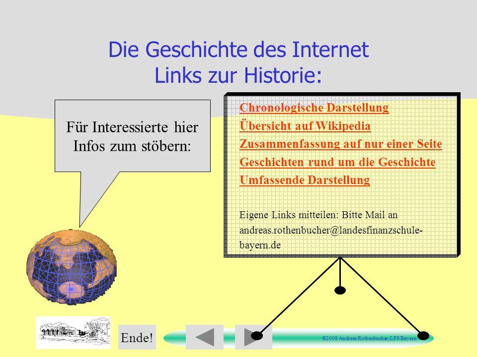 Die Geschichte des Internet Links zur Historie: