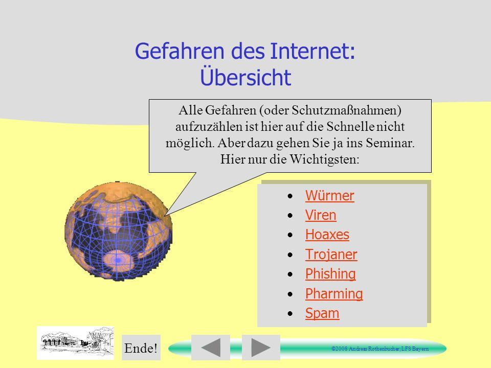 Gefahren des Internet: Übersicht