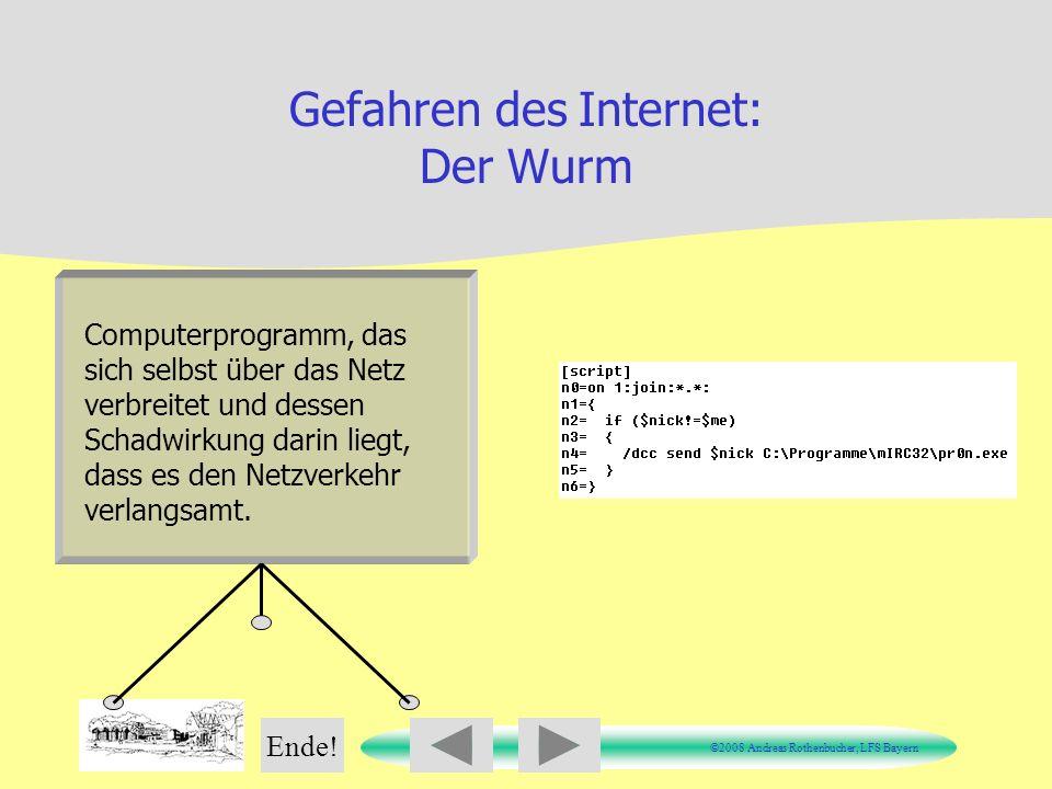 Gefahren des Internet: Der Wurm