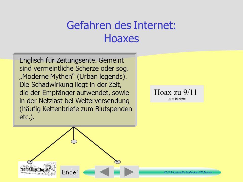 Gefahren des Internet: Hoaxes