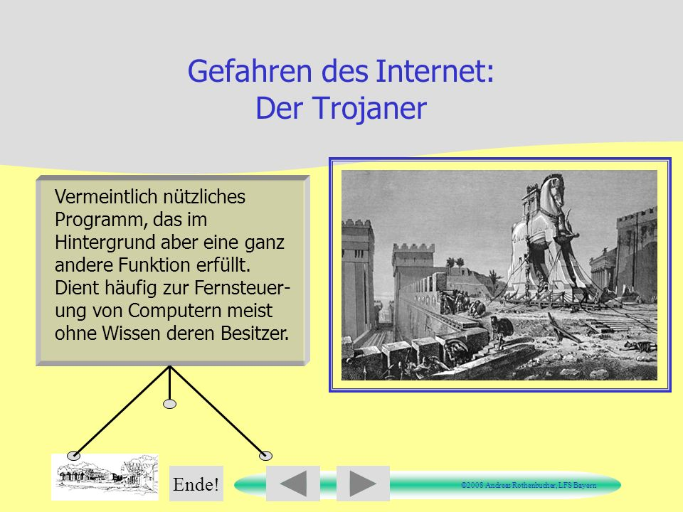 Gefahren des Internet: Der Trojaner