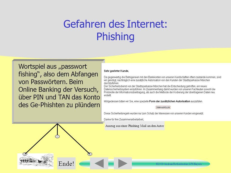 Gefahren des Internet: Phishing