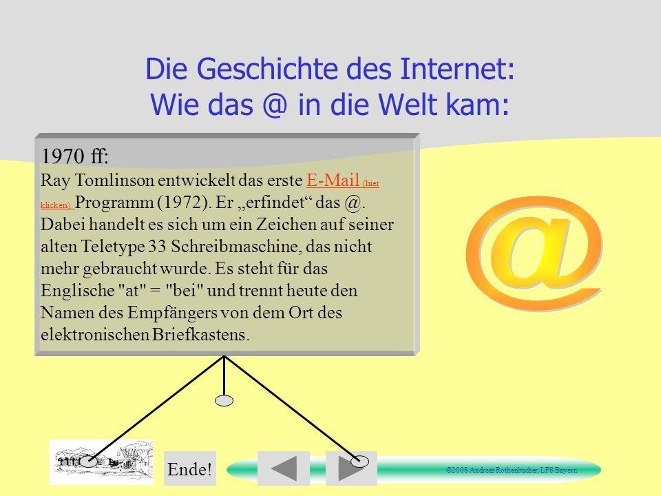 Die Geschichte des Internet: Wie das @ in die Welt kam: