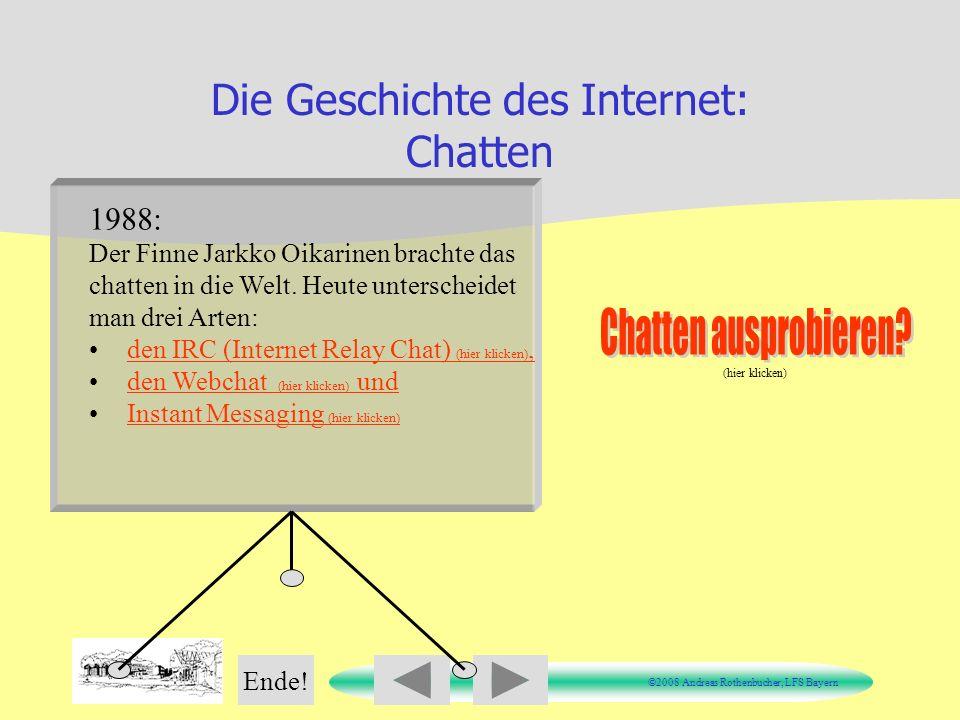 Die Geschichte des Internet: Chatten