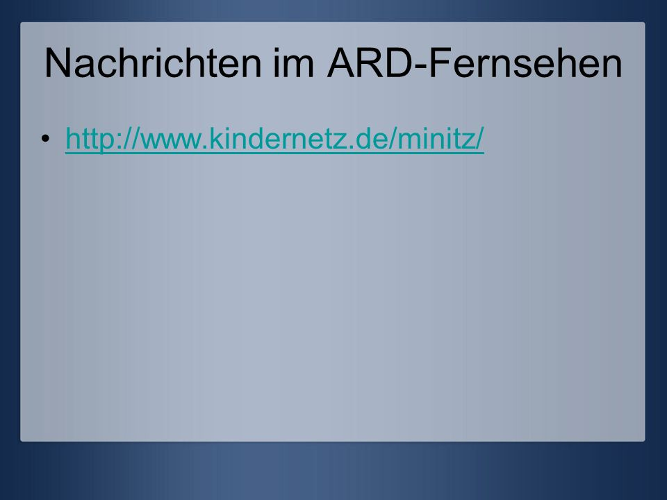 Nachrichten im ARD-Fernsehen