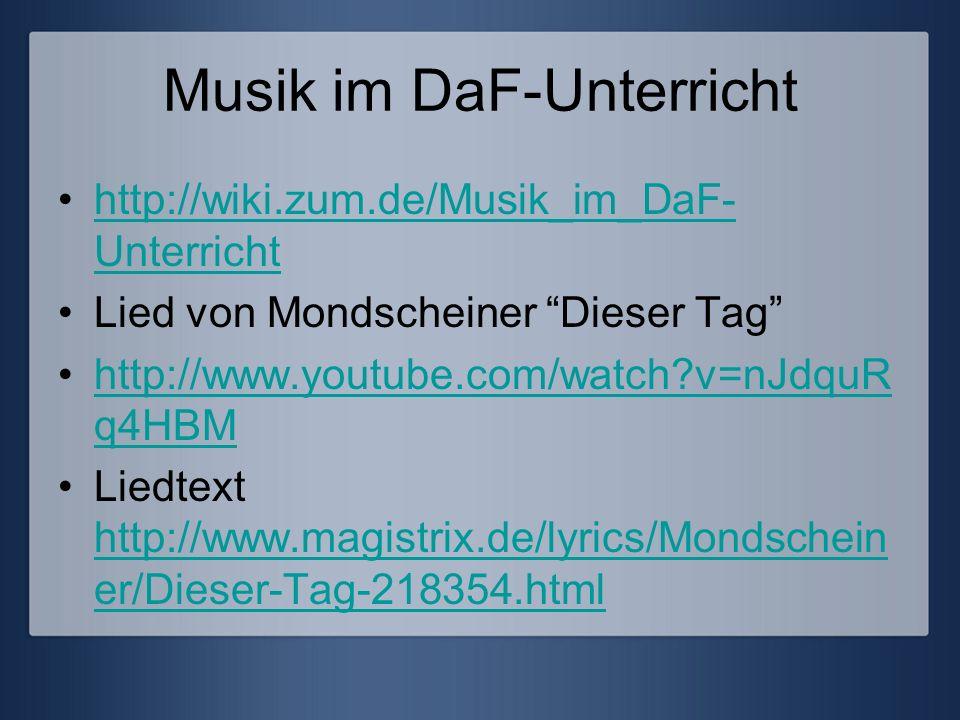 Musik im DaF-Unterricht