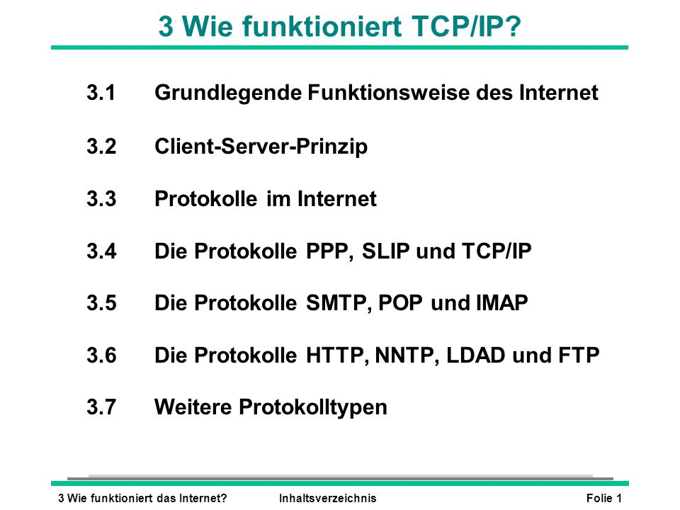 3 Wie funktioniert TCP/IP