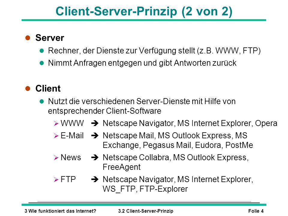 Client-Server-Prinzip (2 von 2)