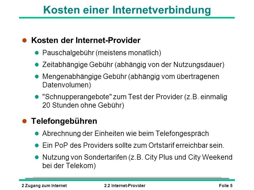 Kosten einer Internetverbindung