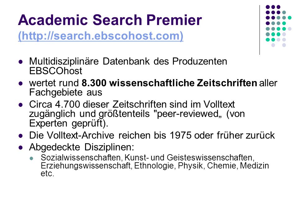 Academic Search Premier (http://search.ebscohost.com)