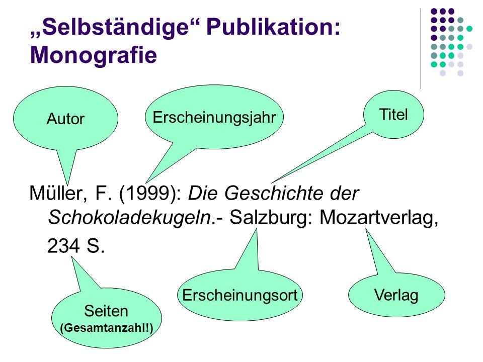 """""""Selbständige Publikation: Monografie"""