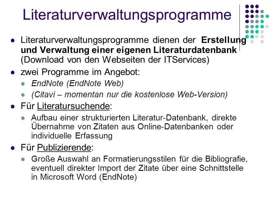 Literaturverwaltungsprogramme