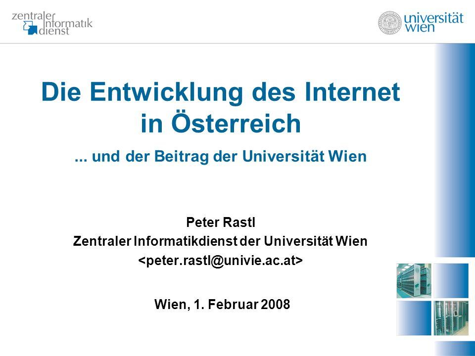 Die Entwicklung des Internet in Österreich