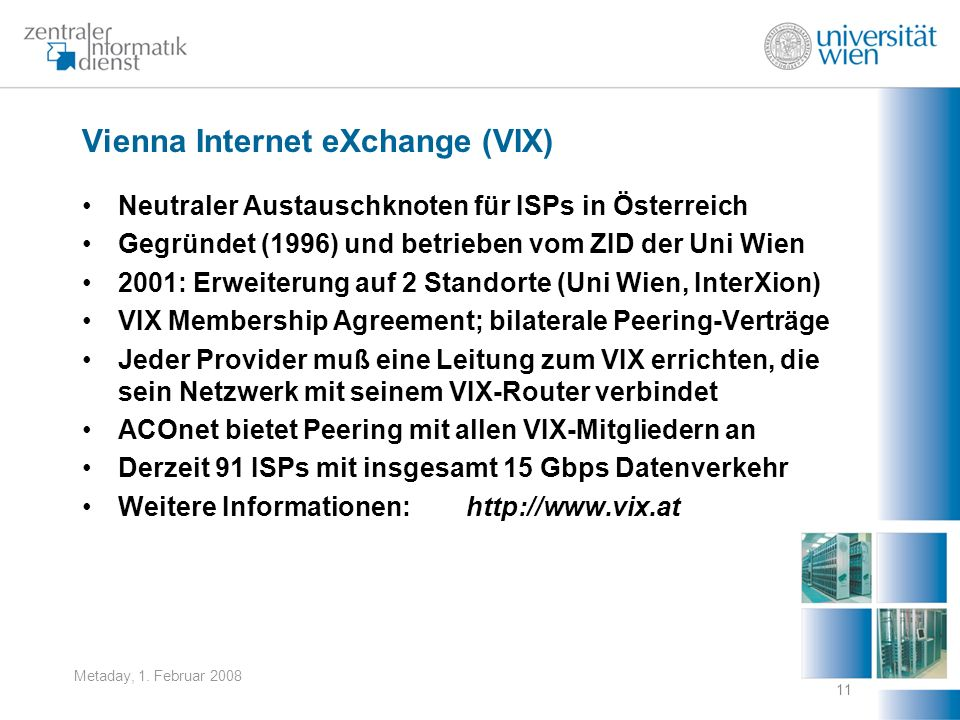 Vienna Internet eXchange (VIX)
