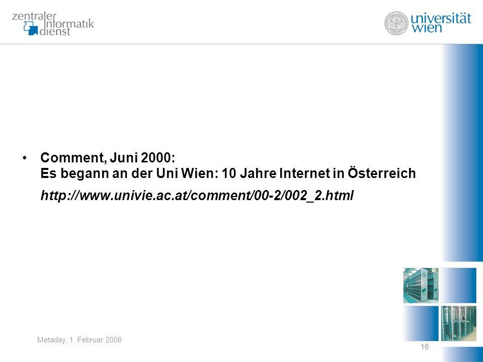 Es begann an der Uni Wien: 10 Jahre Internet in Österreich