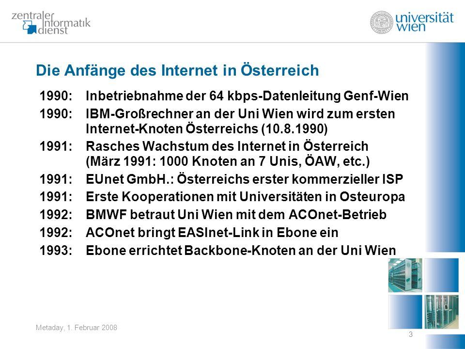 Die Anfänge des Internet in Österreich