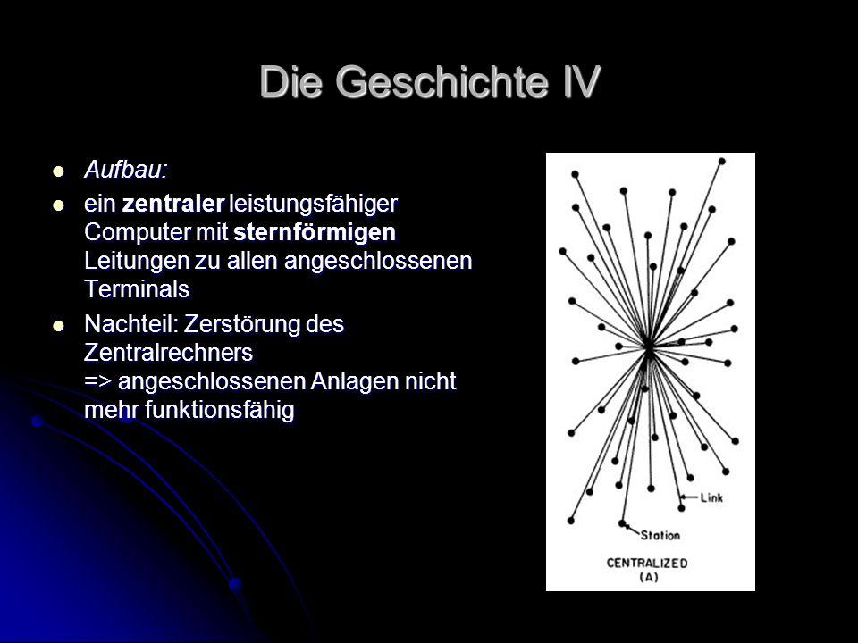 Die Geschichte IV Aufbau: