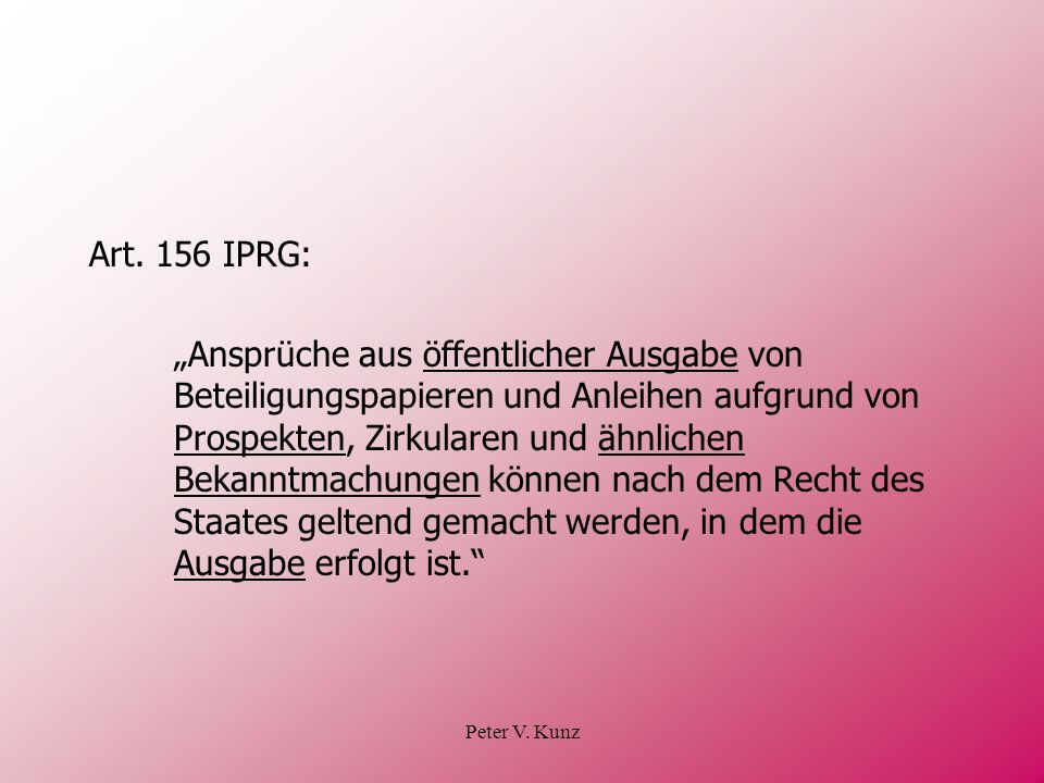 Art. 156 IPRG: