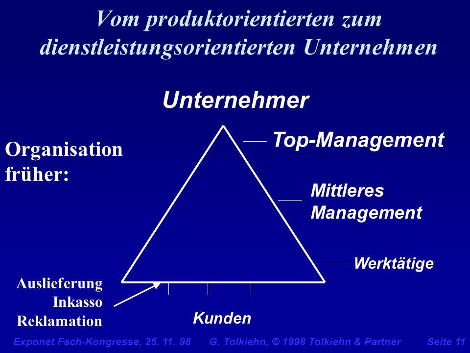 Vom produktorientierten zum dienstleistungsorientierten Unternehmen