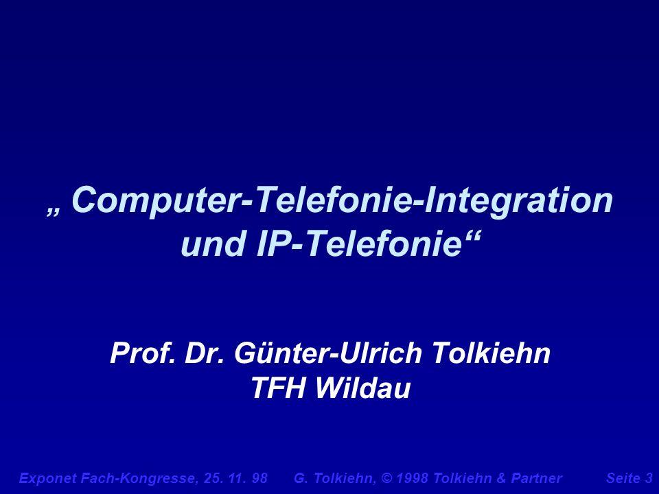 """"""" Computer-Telefonie-Integration und IP-Telefonie Prof. Dr"""