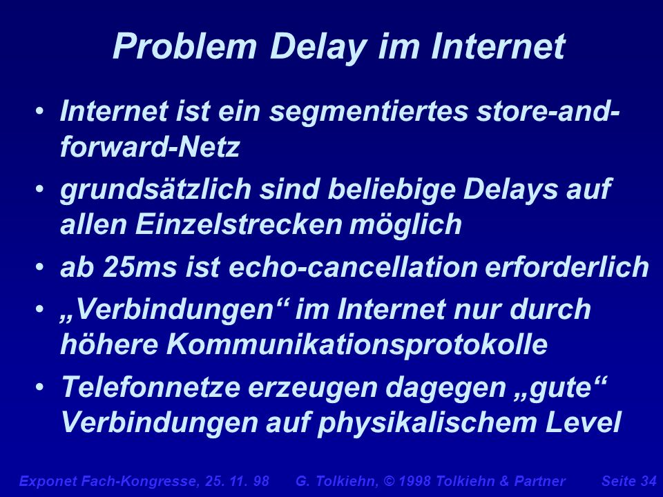 Problem Delay im Internet
