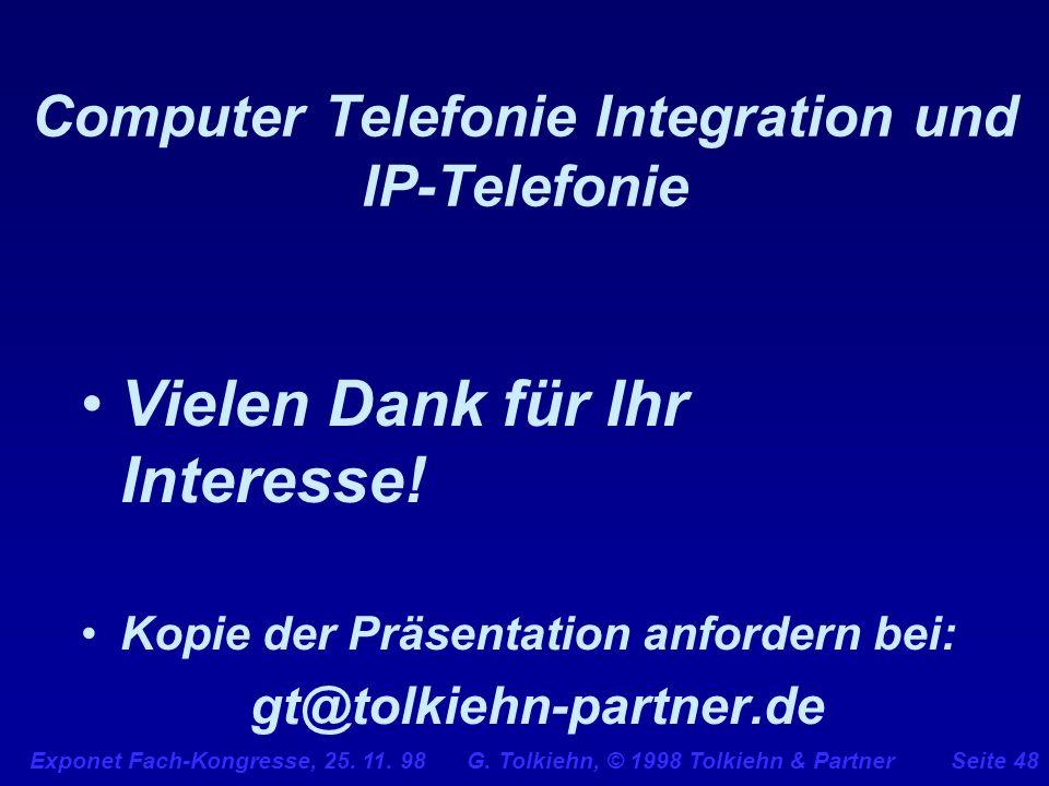 Computer Telefonie Integration und IP-Telefonie