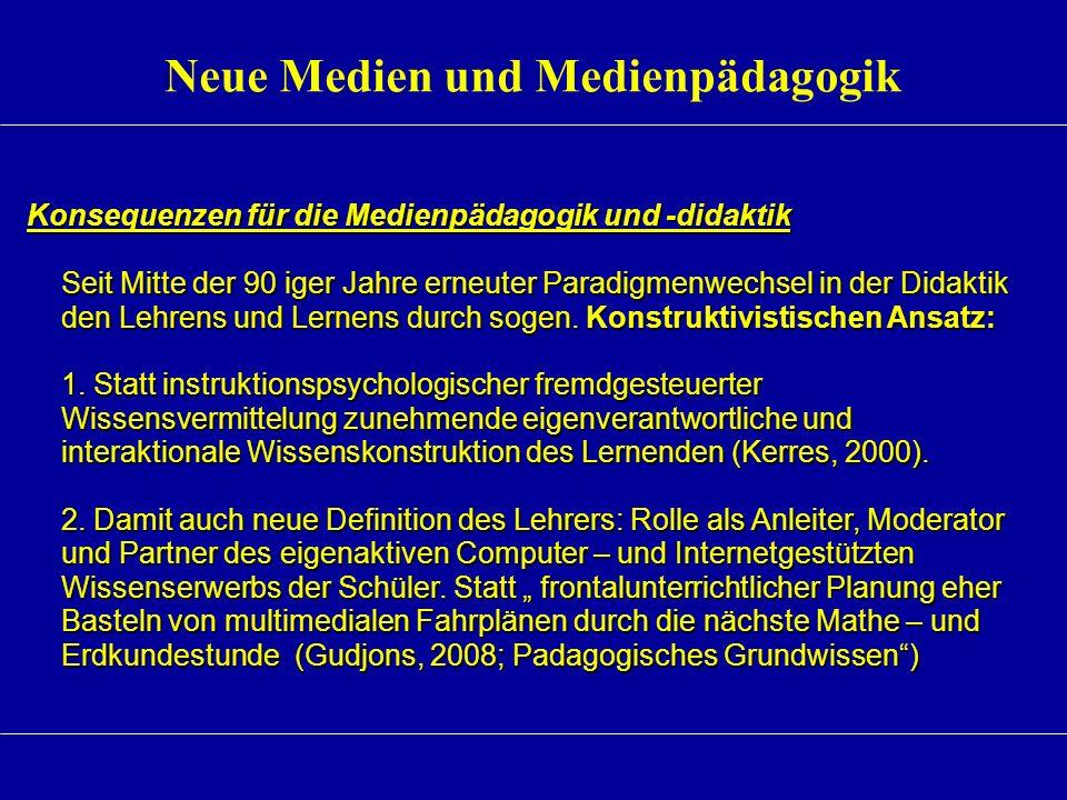 Neue Medien und Medienpädagogik