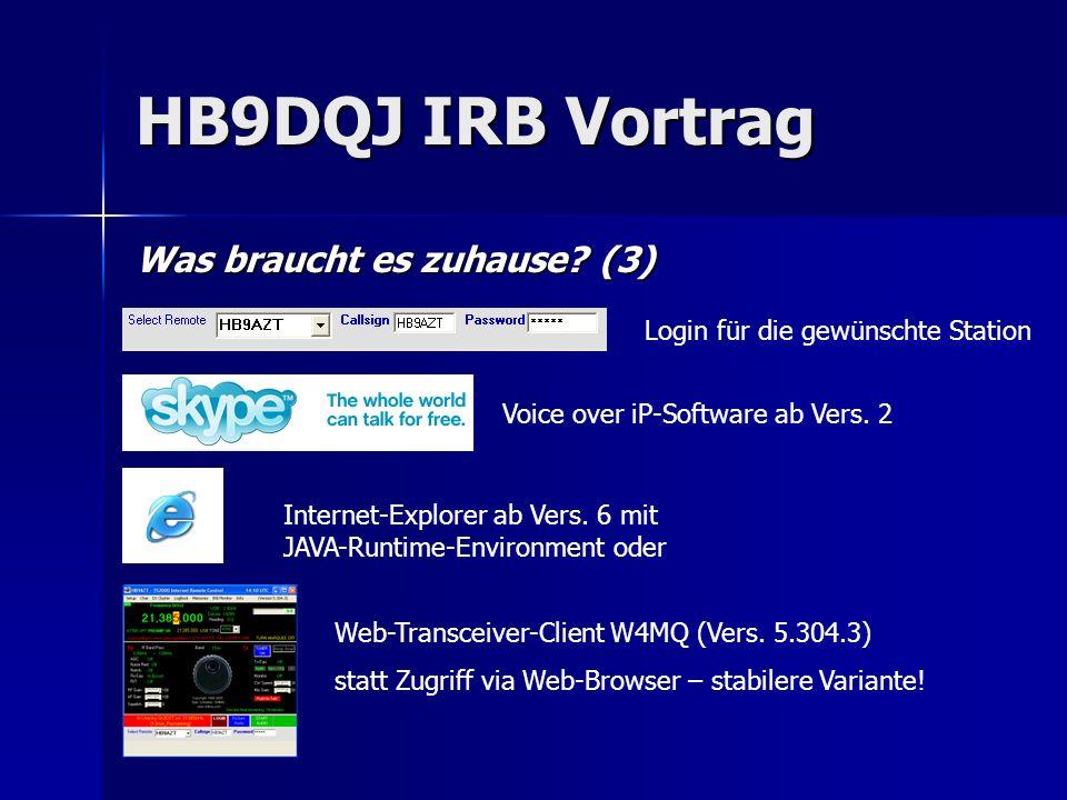 HB9DQJ IRB Vortrag Was braucht es zuhause (3)