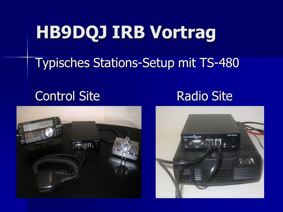 HB9DQJ IRB Vortrag Typisches Stations-Setup mit TS-480