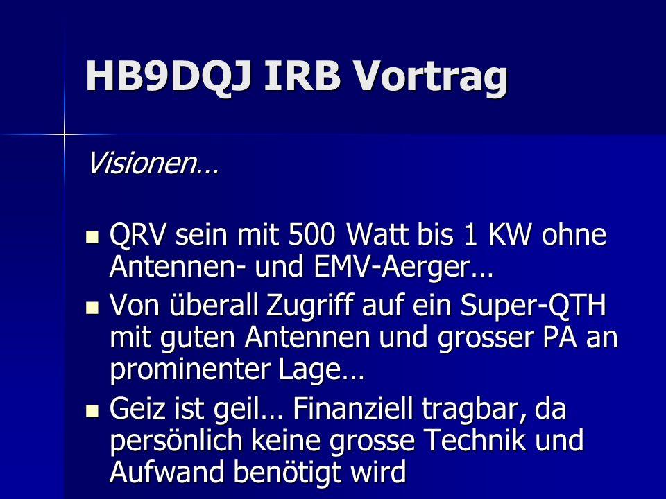 HB9DQJ IRB Vortrag Visionen…