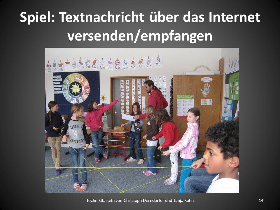 Spiel: Textnachricht über das Internet versenden/empfangen