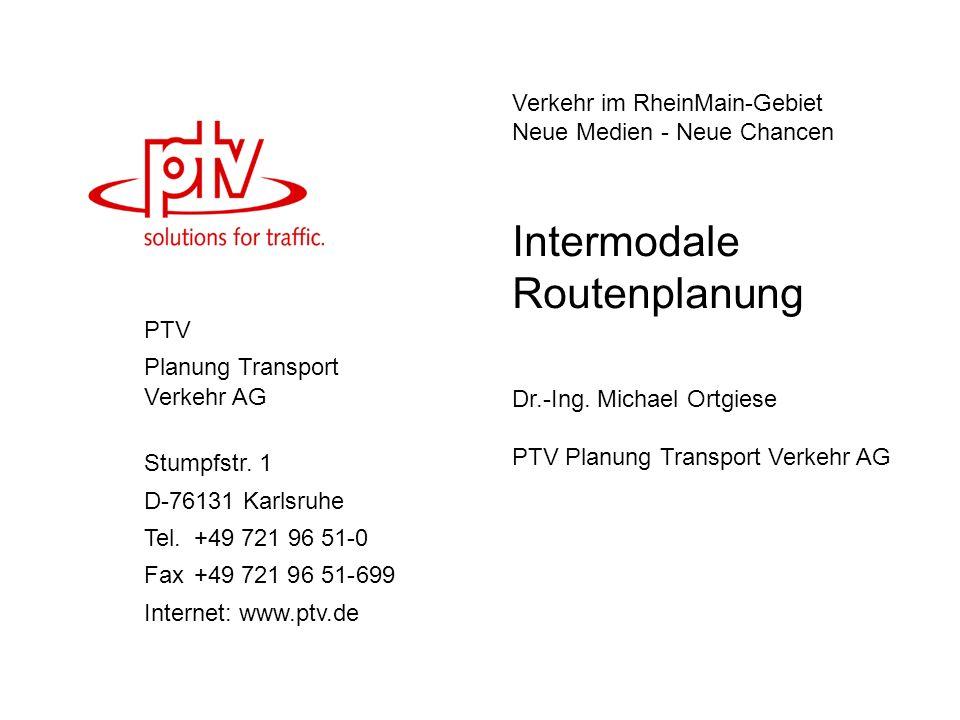 Intermodale Routenplanung
