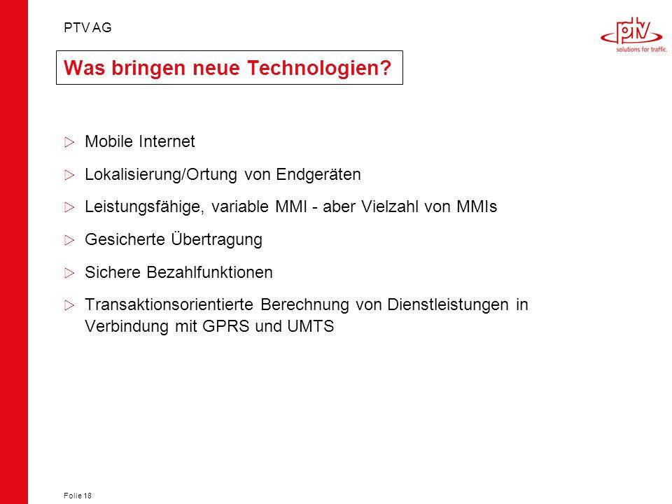 Was bringen neue Technologien