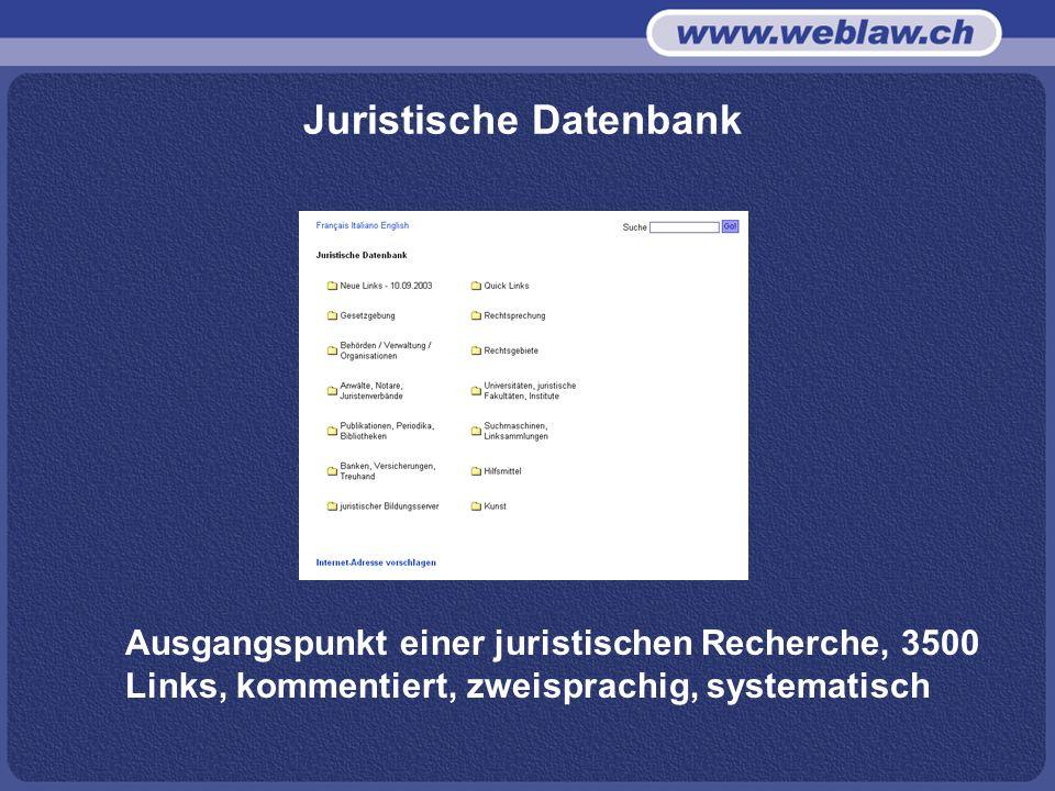 Juristische Datenbank