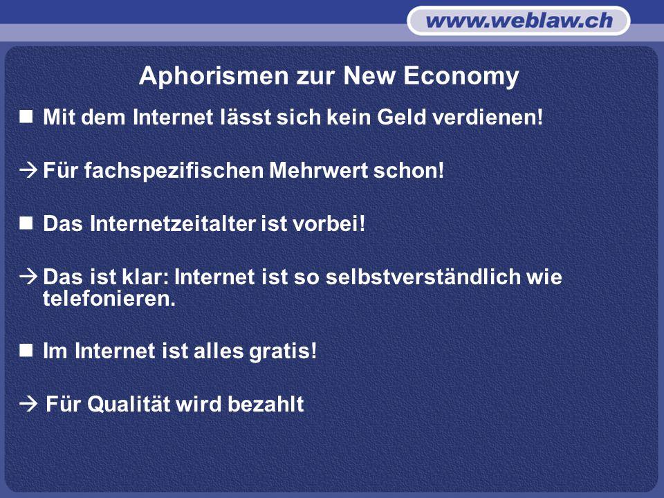 Aphorismen zur New Economy